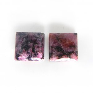 Rhodonite 10x10mm Square Cabochon 8.40 Cts