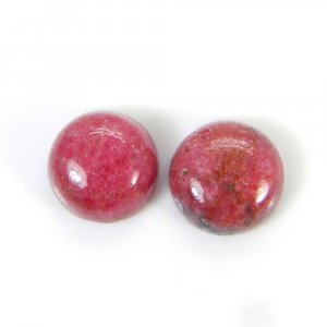 Rhodonite 11x11mm Round Cabochon 6.90 Cts