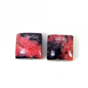 Rhodonite 12x12mm Square Cabochon 13.60 Cts