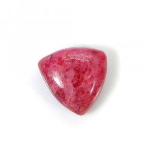 Rhodonite 13x13mm Trillion Cabochon 10.25 Cts