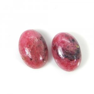 Rhodonite 14x10mm Oval Faceted Cut 7.45 Cts