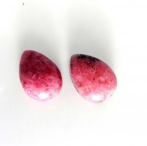 Rhodonite 14x10mm Pear Cabochon 8.65 Cts