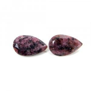 Rhodonite 16x10mm Pear Faceted Cut 7.70 Cts