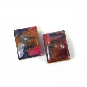 Rhodonite 16x12mm Rectangle Cabochon 12.55 Cts