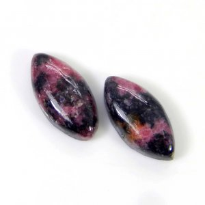 Rhodonite 20x10mm Marquise Cabochon 10.70 Cts