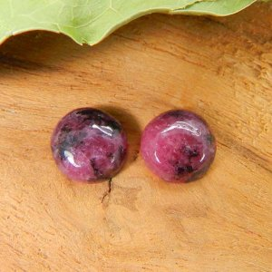Rhodonite 8mm Round Cabochon 2.40 Cts
