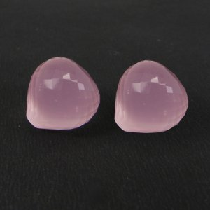 Rose Quartz 15mm Onion Checker Cut 20.9 Cts