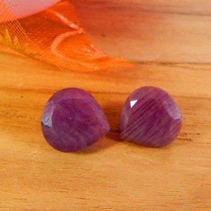 Ruby Corundum 10x10mm Heart Faceted Cut 4.55 Cts