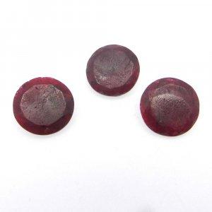 Ruby Corundum 16mm Round Cut 9.3 Cts