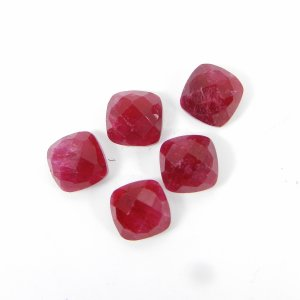 Ruby Corundum 8x8mm Cushion Rose Cut 3.05 Cts