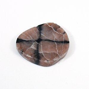 Sanatona Chiastolite 41.40 Cts Freeform Flat 30x25mm Loose Gemstone