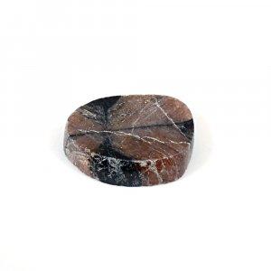 Sanatona Chiastolite 43.50 Cts Freeform Flat 27x23mm Loose Gemstone