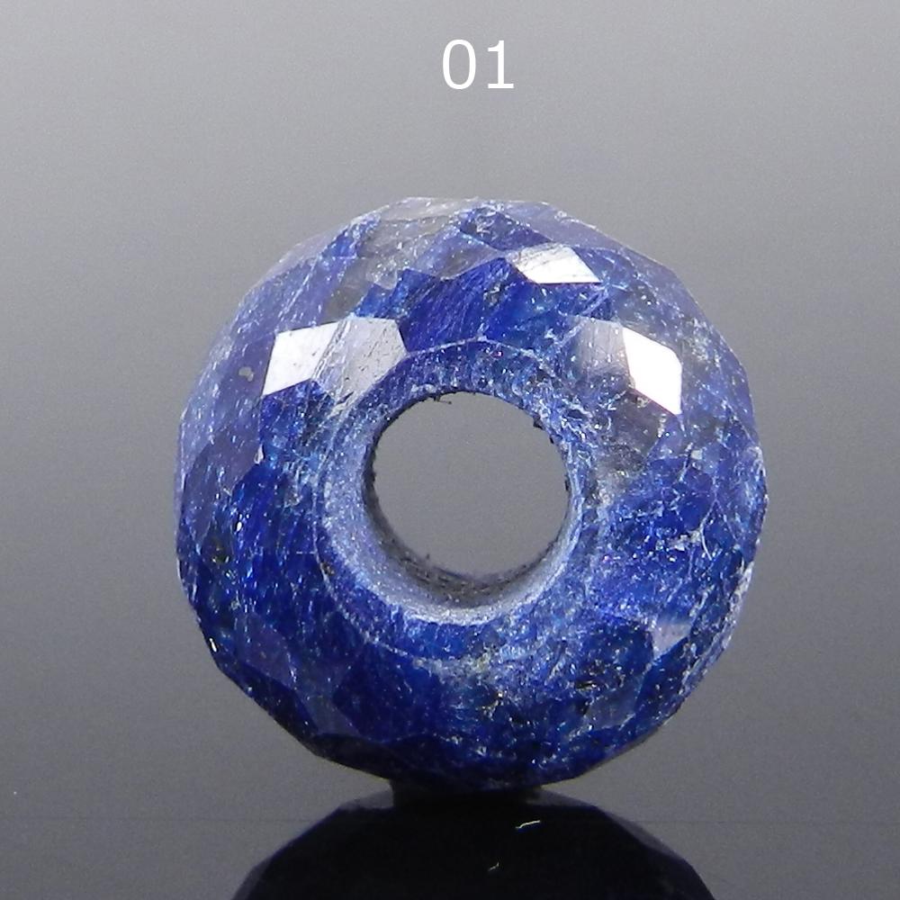 Sapphire Corundum 14x8x4.5mm Roundel Facet  Beads