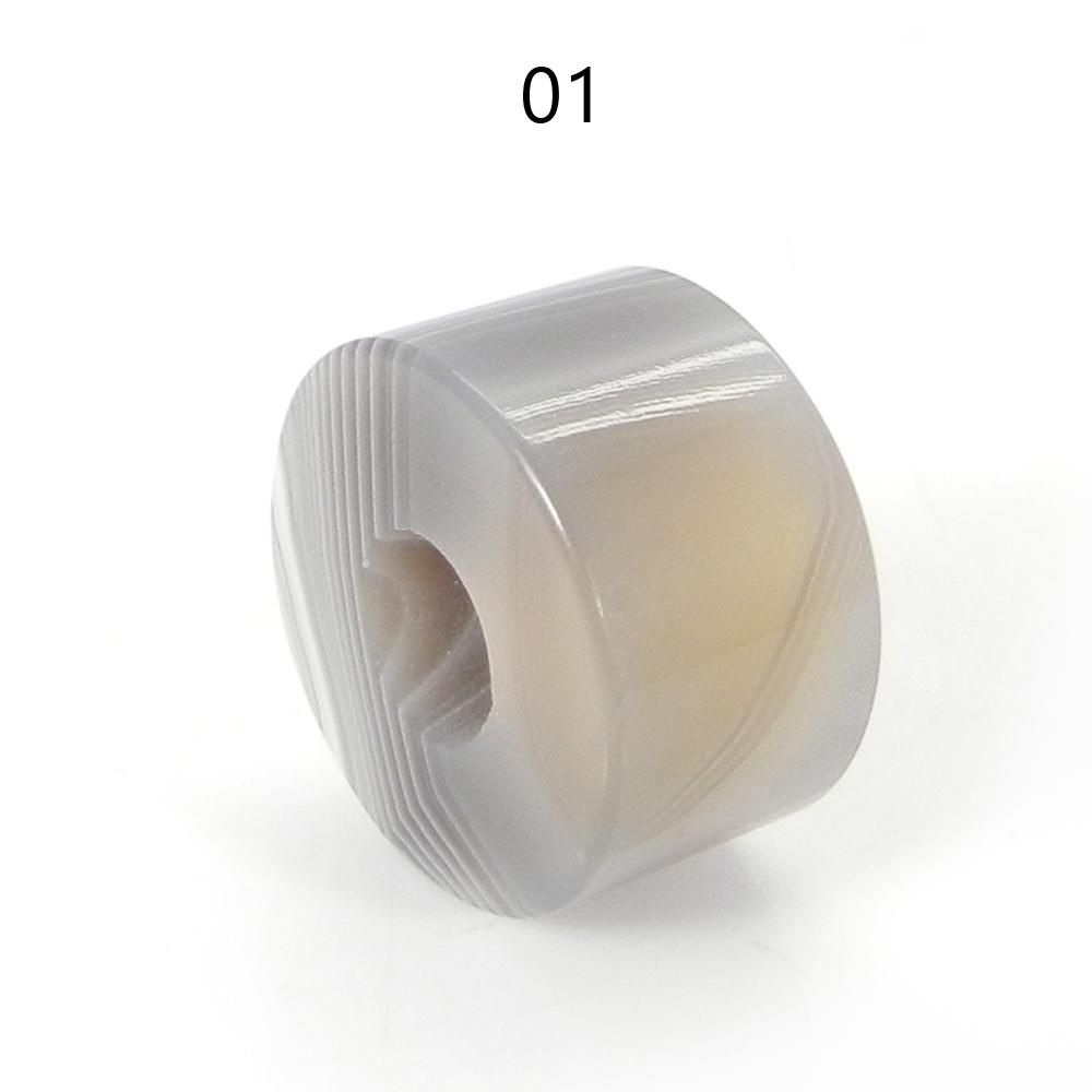 Sardonyx 14x8x5mm Round Flat Beads