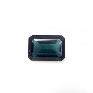 Semi Precious Gemstone Blue Tourmaline 10x7mm Octagon Bagutte Cut 3.00 Cts