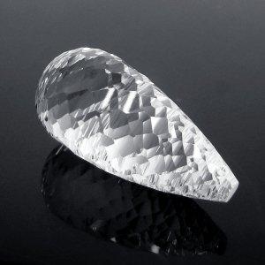 Semi Precious Gemstone Crystal Quartz 30x10mm Drop Concave Cut 21.50 Cts