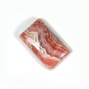 Semi Precious Rhodochrosite 22x13mm Rectangle Cabochon 20.24 Cts