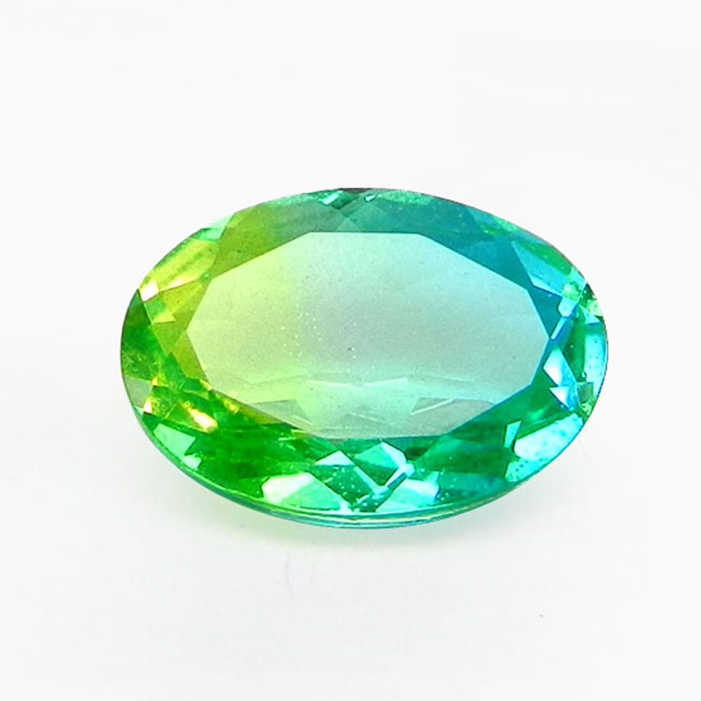 Sky Bio Color Doublet 14x10mm Oval Cut 5.3 Cts