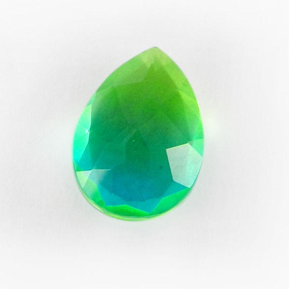 Sky Bio Color Doublet 14x10mm Pear Cut 4.8 Cts