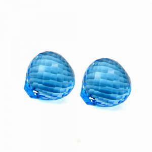 Sky Blue Topaz 15mm Onion Checker Cut 22.10 Cts