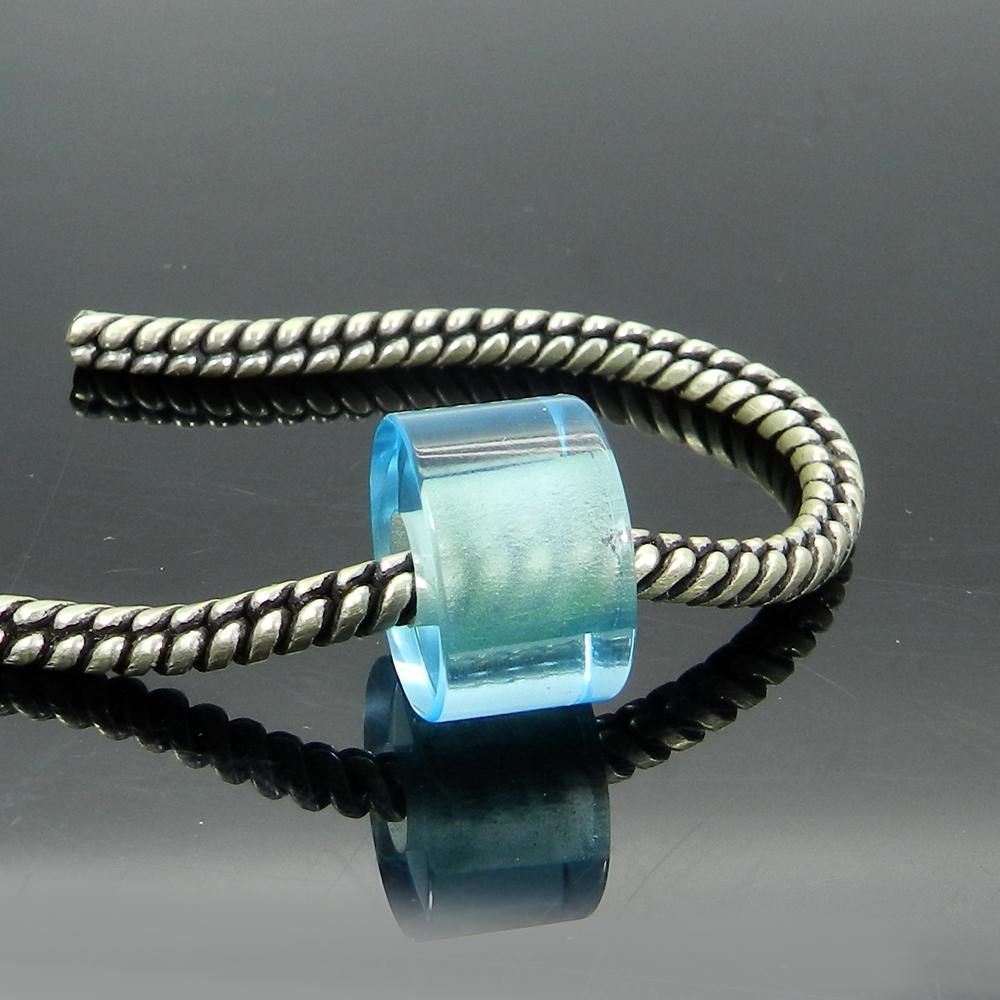 Sky Blue Topaz Hydro 16x10x5.5mm Round Flat Beads
