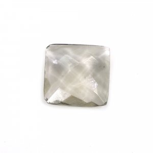 Smoky Hydro 12x12mm Square Briolette Cut 4.30 Cts