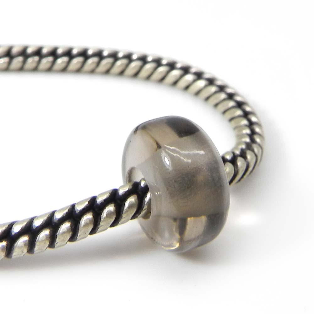 Smoky Hydro 14x8x5mm Roundel Smooth Beads