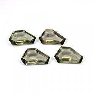 Smoky Hydro 64.40 Cts Fancy Cut 25x14mm 4 Pcs Lot Loose Gemstone