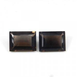 Smoky Quartz 20x15mm Rectangle Baguette Cut 19.75 Cts