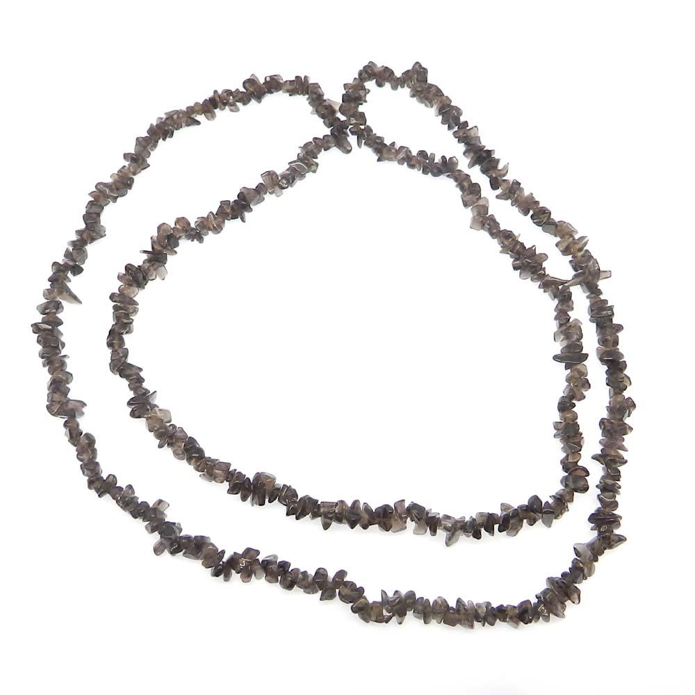 Smoky Quartz 5-8mm Approx 36 Inch Length Chips Strand Beads