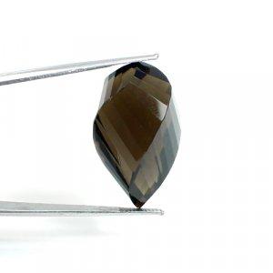 Smoky Quartz Gemstone Fancy 52.25 Cts 30x19mm Loose Gemstone