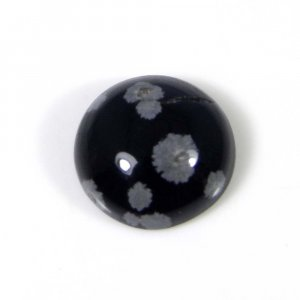 Snowflake Obsidian 13x13mm Round Cabochon 6.05 Cts