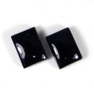 Snowflake Obsidian 14x10mm Rectangle Cabochon 7.90 Cts