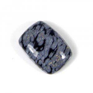 Snowflake Obsidian 18x13mm Octagon Cabochon 11.35 Cts