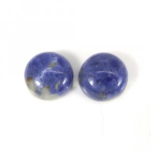 Sodalite 10x10mm Round Cabochon 3.55 Cts