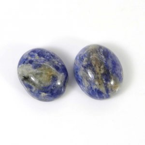 Sodalite 12x10mm Oval Cabochon 4.00 Cts