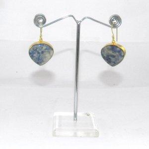 Sodalite 18k Gold plated Bezel Earring