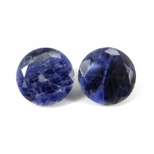 Sodalite 18mm Round Faceted Cut 17.60 Cts
