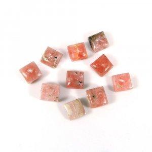 Stunning Rhodochrosite Gemstone 6x6mm Square Cabochon 1.70 Cts