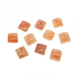 Sunstone 6x6mm Square Cabochon 1.55 Cts