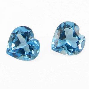 Swiss Blue Topaz 6x6mm Heart Cut 0.85 Cts