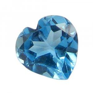 Swiss Blue Topaz 8x8mm Heart Cut 2.0 Cts