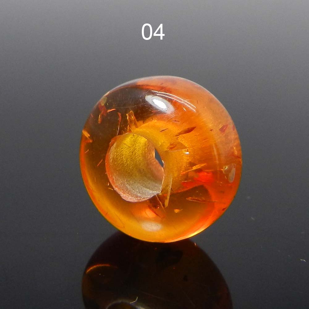 Synthetic Amber 14x8x5mm Roundel Smooth Beads