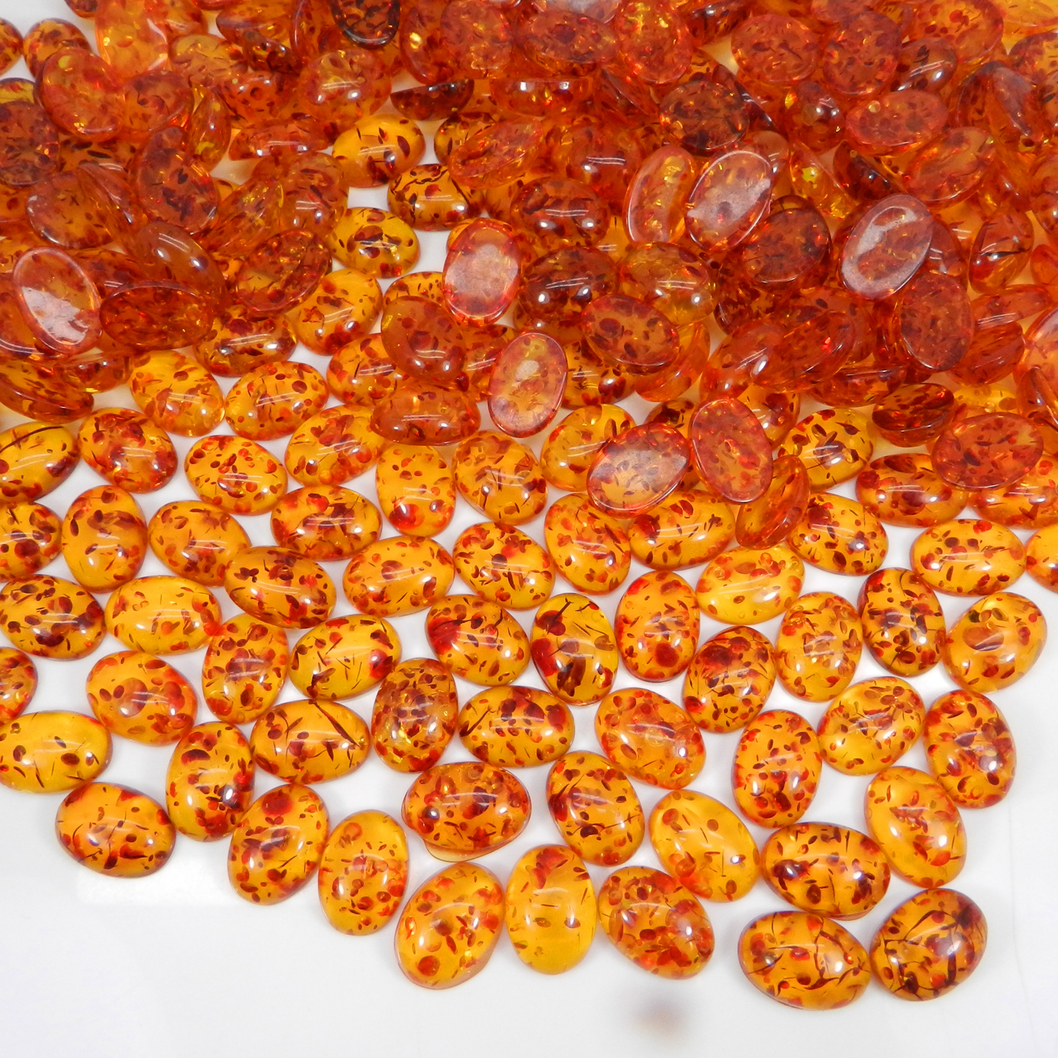 Synthetic Amber 25x18mm Oval Cabochon 11.75 Cts