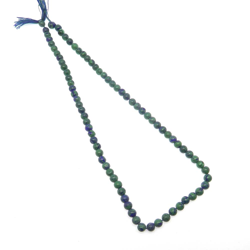 Synthetic Azurite 6mm Round Smooth 16 inch Strand Beads