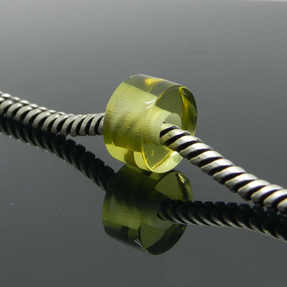Synthetic Lemon Hydro 14x8x5mm Round Flat Beads