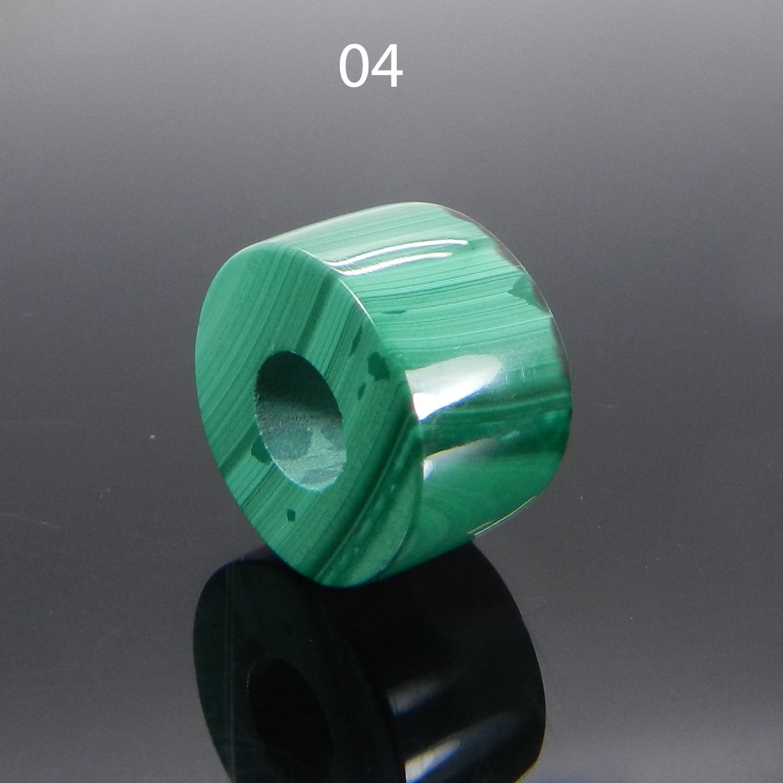 Synthetic Malachite 14x8x5mm Round Flat Beads