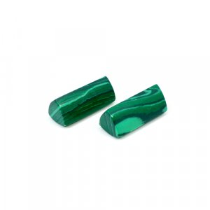 Synthetic Malachite Pencil Shape Faceted Cut 16.65 Cts 18x8mm 1 Pair Loose Gemstone