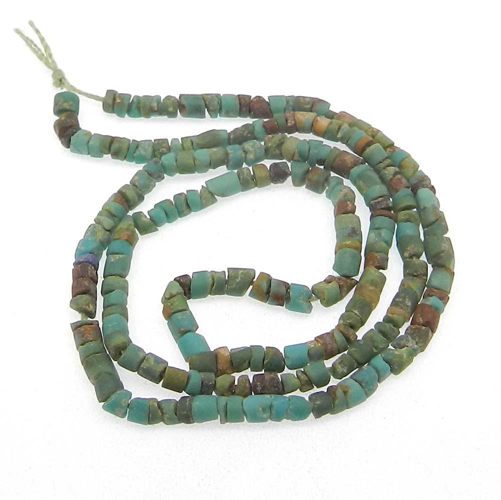 Tibet Turquoise 2.5mm Round Flat 14 inch Strand Beads