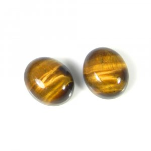 Tiger Eye 12x10mm Oval Cabochon 12.1 Cts